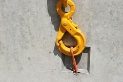 Fastener. Close-up of an Carabiner royalty free stock images