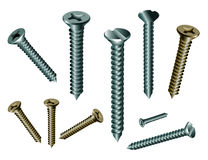 Fasteners dowel. Model with EPS file stock illustration