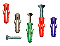 Fasteners dowel screw Stock Images