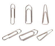 Fasteners  (paper clips) isolated Stock Photos