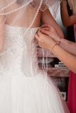 Fastening detail of the dress Royalty Free Stock Photo
