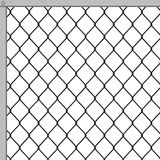 Fastening of metal fence. Fastening of a fence from a metal grid vector illustration