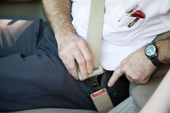 Fastening Seatbelt Royalty Free Stock Image