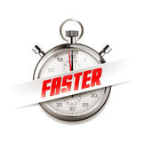 Faster - business concept - time is running Stock Photography