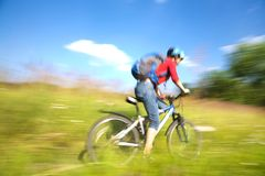Faster cyclist Stock Photos