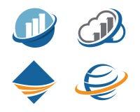 Faster logo template. Icon illustration design Stock Image