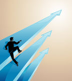 Faster Pace Business. Businessman or investor choosing a faster pace growth Stock Photography