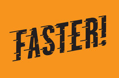 Faster Retro Typography with Speed Lines Stock Images