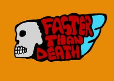 Faster than death Royalty Free Stock Images