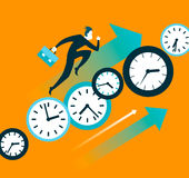 Faster than time. Push forward Stock Image