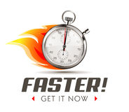 Faster - time is running out - Stopwatch concept Royalty Free Stock Photos