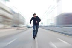Fastest man stock photo