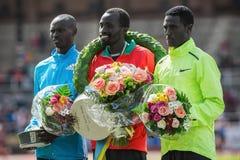 Fastest men during ASICS Stockholm Marathon 2014 Stock Photos