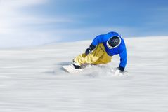 Fastest skier. Under blue sky Stock Image