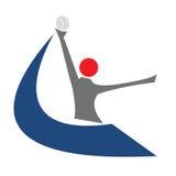 Fastet Neigungs-Softball lizenzfreies stockbild