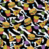 Fastfood bezszwowy wzór ilustracji