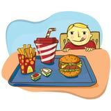 Fastfood boy Royalty Free Stock Image