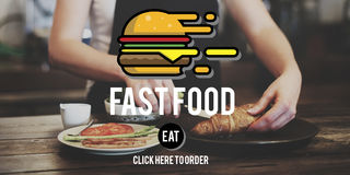 Fastfood Burger Junk Meal Takeaway Calories Concept Royalty Free Stock Photos