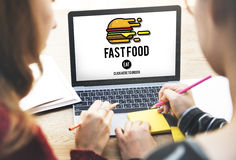 Fastfood Burger Junk Meal Takeaway Calories Concept. Fastfood Burger Junk Meal Takeaway Calories stock images