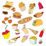 Fastfood collection. Royalty Free Stock Images