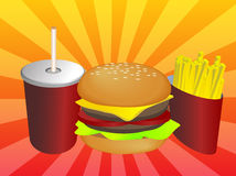 Fastfood combo Royalty Free Stock Image
