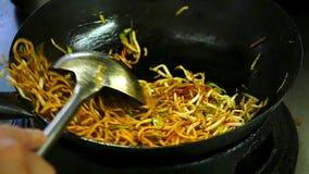 Fastfood de cozimento chinês vídeos de arquivo
