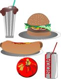 Fastfood deluxe Illustration Stock Photo