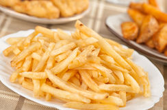 Fastfood. French fries Royalty Free Stock Photos