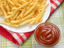 Fastfood. French fries Stock Image