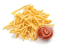 Fastfood. French fries. On white background royalty free stock photo