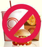 Fastfood - harm for health Royalty Free Stock Photos