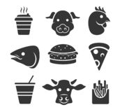 Fastfood icon set royalty free illustration