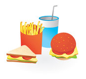 Fastfood icons. Isolated fastfood icons - vector illustration Royalty Free Stock Photos
