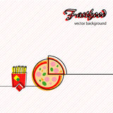 Fastfood icons background Royalty Free Stock Photos