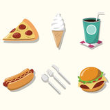Fastfood ikona Zdjęcia Stock
