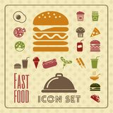 Fastfood Infographic Template. Royalty Free Stock Image