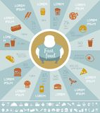 Fastfood Infographic Template. royalty free illustration
