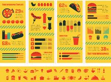 Fastfood Infographic Template. Stock Photos