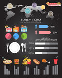 Fastfood infographics Royalty Free Stock Photo