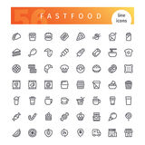 Fastfood Line Icons Set Stock Photo