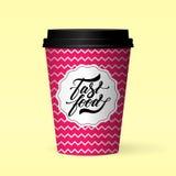 Fastfood loga projekta pojęcie Obraz Royalty Free