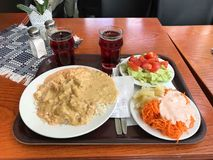 Fastfood. My fastfood lunch in & x22;Dala Wärdshus& x22 stock photo
