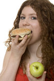 Fastfood Or Apple Stock Image