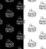 Fastfood pattern. Concept menu pattern fastfood cafe and restaurant Royalty Free Stock Photos