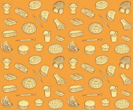 Fastfood pattern Royalty Free Stock Images