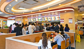 Fastfood resturant interior Royalty Free Stock Images