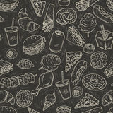 Fastfood seamless pattern Royalty Free Stock Image