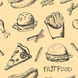 Fastfood set Obrazy Royalty Free