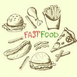 Fastfood set Zdjęcie Stock