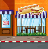 Fastfood shop by the street vector illustration